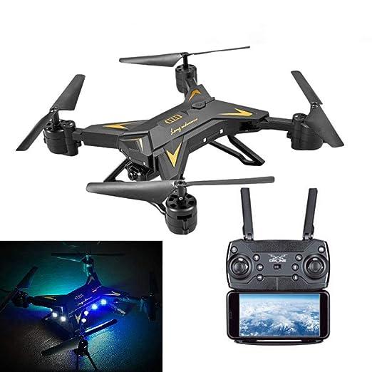 Mini dron plegable con mando a distancia, avión de helicóptero ...