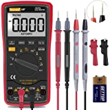 Auto Ranging Digital Multimeter TRMS 6000 with Battery Alligator Clips Test Leads AC/DC Voltage/Account,Voltage Alert…
