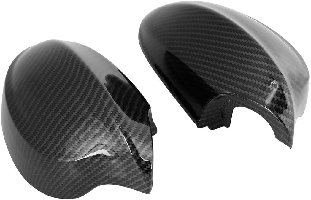 X AUTOHAUX New Exterior Rear View Mirror Housing Door Wing Mirror Covering Cap Glossy Black for BMW E90 2005-2008 Pair