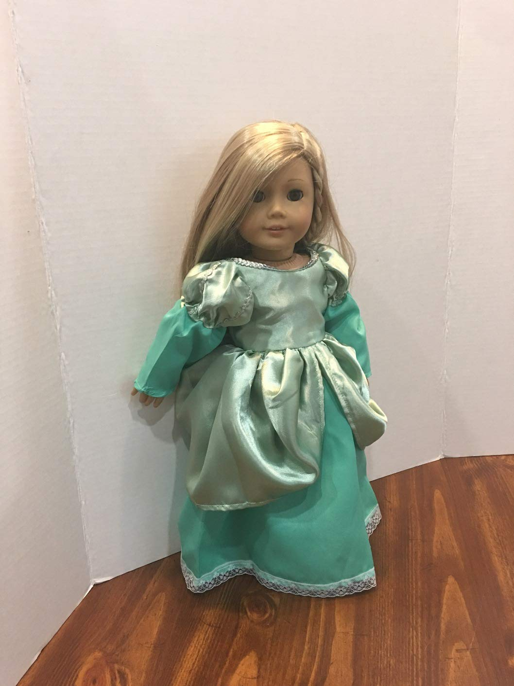Fits 18 American Girl Doll Clothes Princess Ariel Halloween Costume Dress Gown Handmade Clothes Only