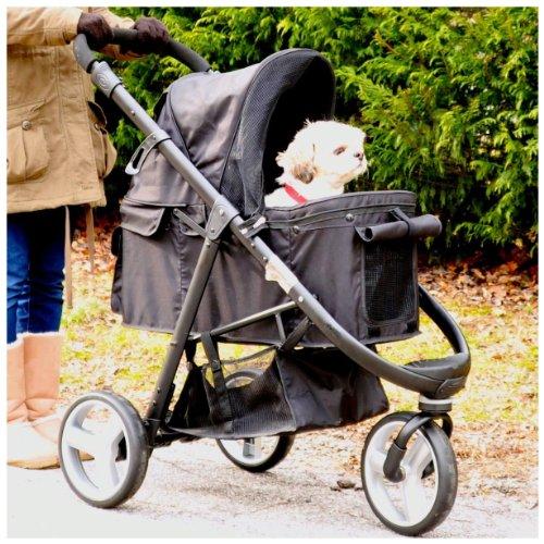 Gen7Pets Promenade Pet Stroller Midnight Black, My Pet Supplies