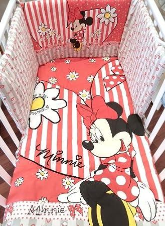 Paracolpi E Piumone Disney.Completo Piumone E Paracolpi Per Lettino Disney Minnie Amazon It