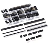 MCIGICM 134 Pcs 2.54mm Male and Female Pin Header Connector Assortment, 120 Pcs Needle Stackable headers and 14 Pcs Row…