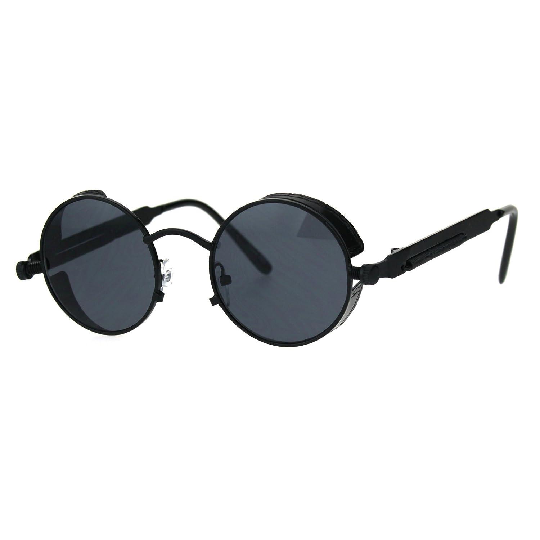 Victorian Vampire Steampunk Round Circle Lens Vintage Style Metal Sunglasses