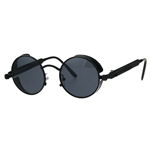 c471b81cc8 Victorian Vampire Steampunk Round Circle Lens Vintage Style Metal Sunglasses  All Back