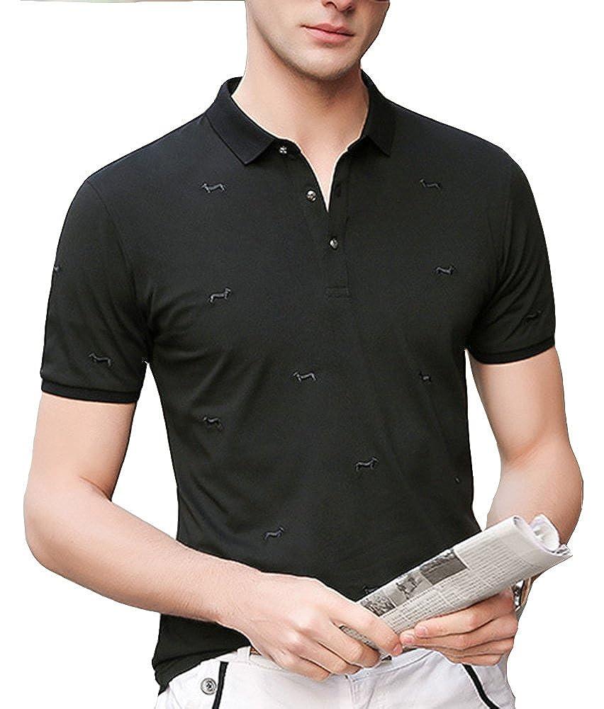 Classic Pink Mens Polo Shirts Short Sleeve Sport T Shirts At Amazon