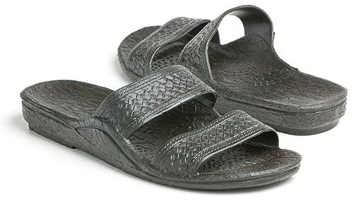 4f776ee9efd72 Pali Hawaii Unisex Adult Classic Jandal Sandal (Black
