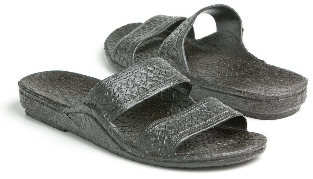 Pali Hawaii Adult Classic Jandals Sandals (11 D(M) US, Black)