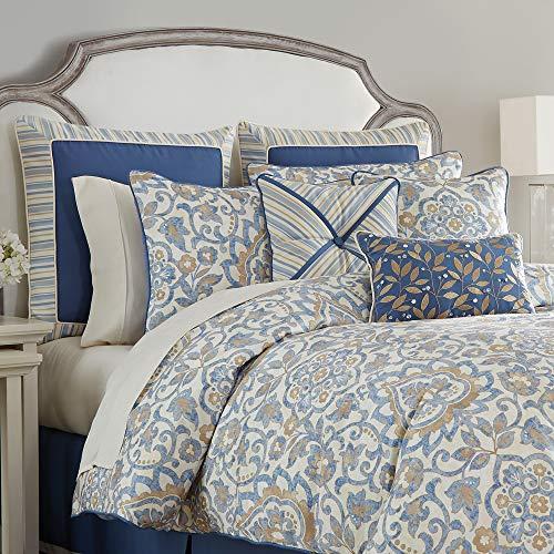 Croscill Janine Queen Comforter, Blue
