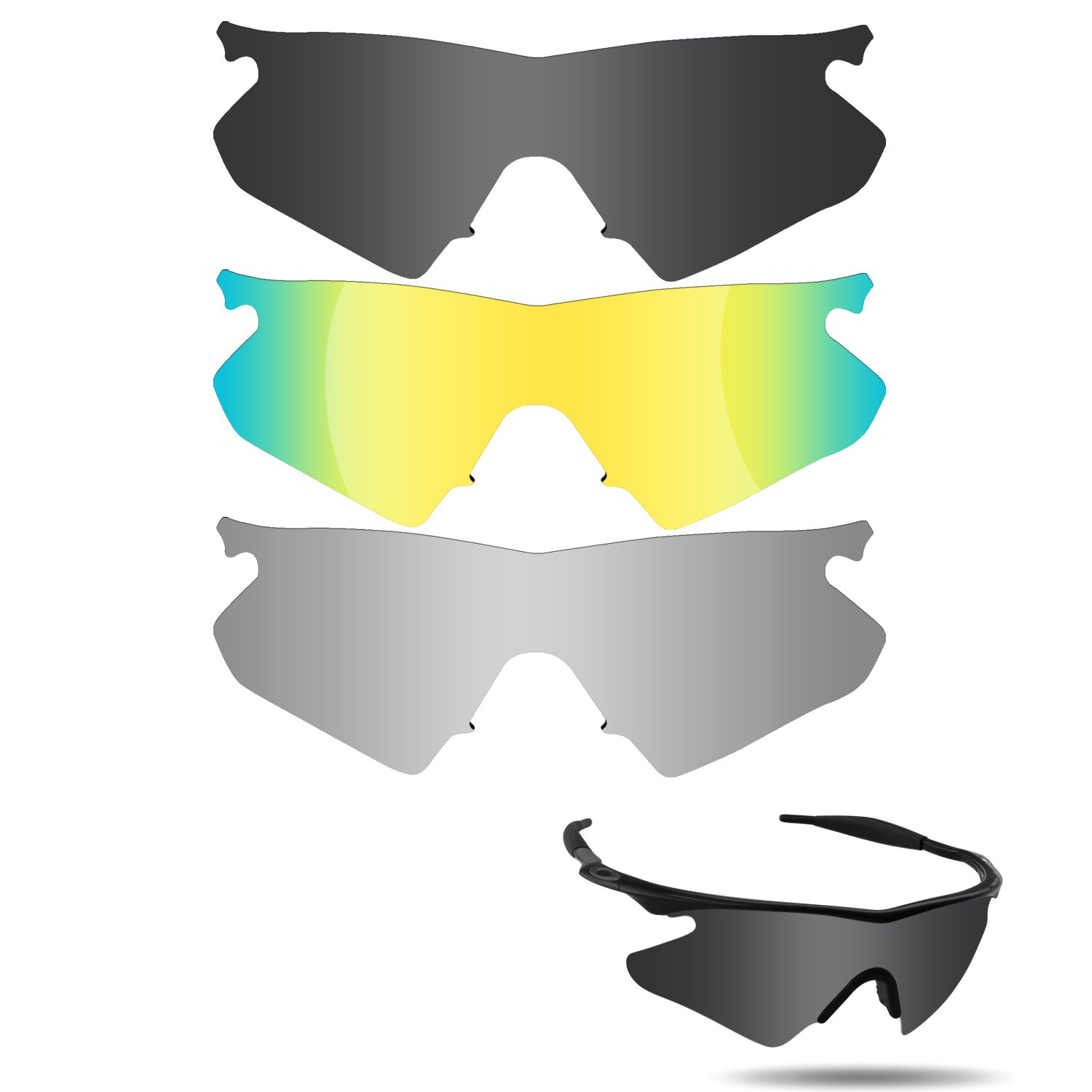 33432a4a7d Amazon.com   Fiskr Anti-Saltwater Polarized Replacement Lenses for Oakley M  Frame Heater 3 Pair Pack   Sports   Outdoors