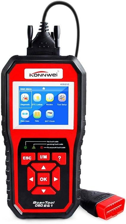 Amazon Com 2018 Mejor Obd 2 Autoscanner Obd2 Escáner Konnwei Kw850 Full Odb2 Escáner Soporta Multiidiomas Odb 2 Escáner De Automoción Home Audio Theater