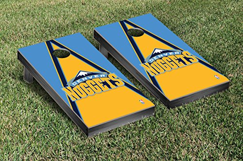 Denver Den Nuggets NBA Basketball Cornhole Game Set Triangle Version by Victory Tailgate