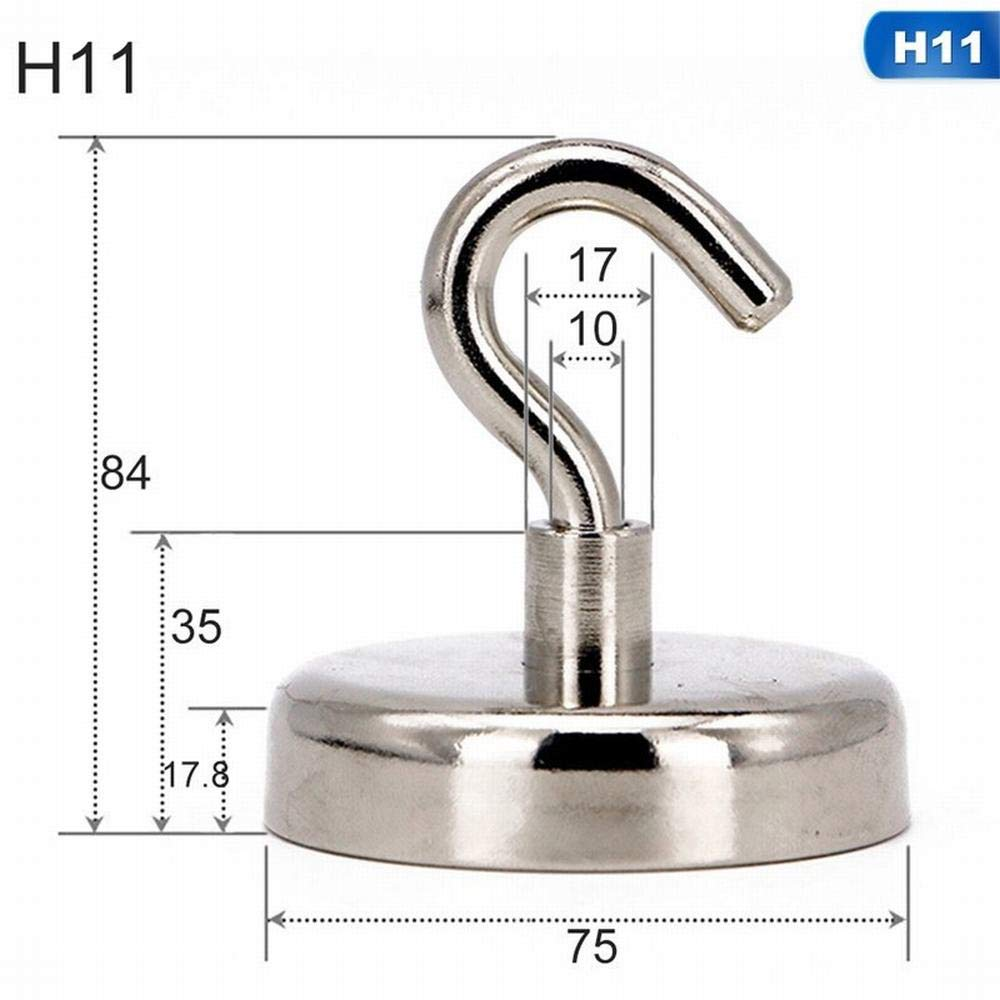 11 D75-1Pcs Magnetic Hanging Hooks Hold Strong Magnet Neodymium Strong Earth Magnet Hanger for Home Kitchen Wall Hook