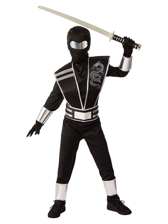 Silver Ninja Boys Costume