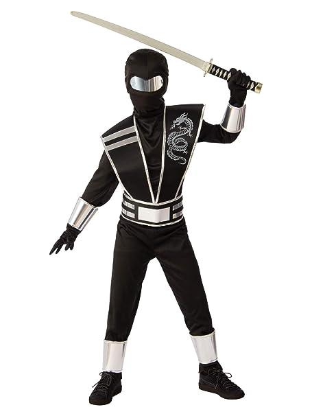 Amazon.com: Rubies Silver Ninja - Disfraz para niño: Clothing