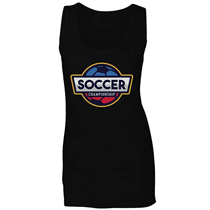 Logotipo Americano De Fútbol camiseta sin mangas mujer r190ft