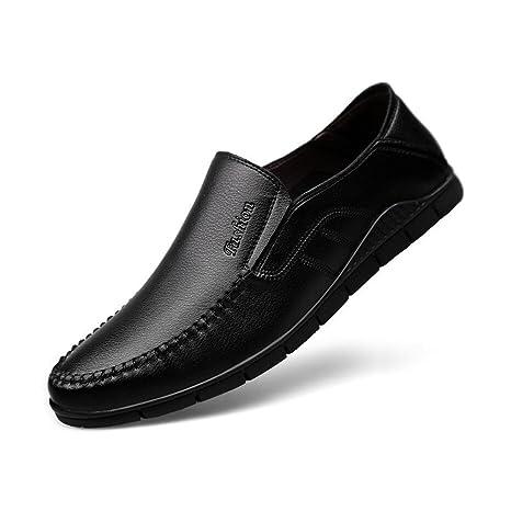 Sandalias y chanclas CJC Zapatos Casual Mocasines Cuero de los Hombres Cerrado Dedo del pie Resbalón