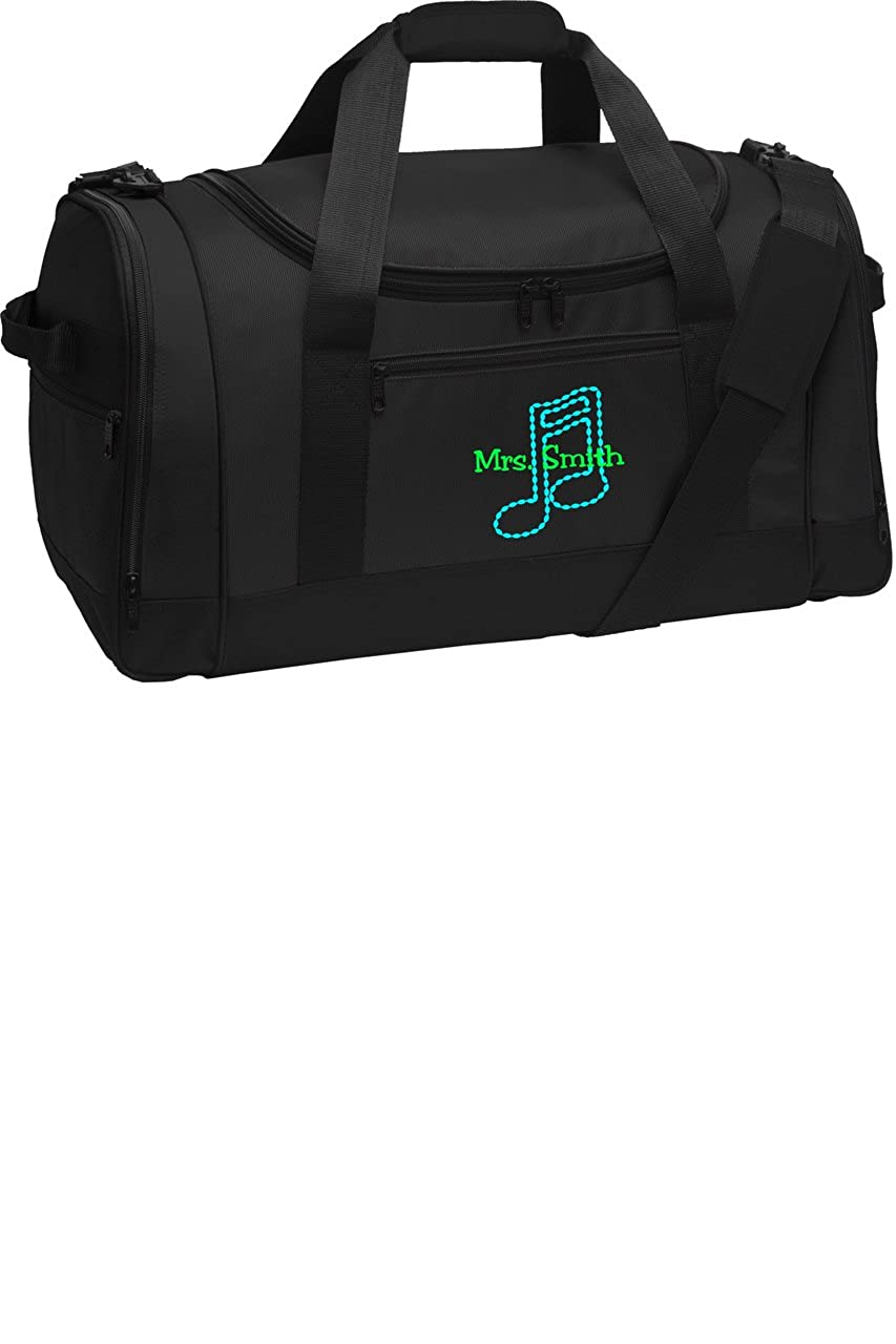 Personalized Music Note Voyager Sports Duffel Bag