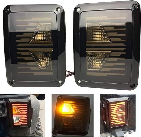 Sxma Euro version posteriori a LED luce di retromarcia freno lampade di segnalazione LED posteriore coda lampade luci di marcia per per Wrangler JK 07-17 1 coppia