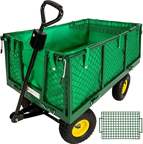 TecTake 401418 - Carrito de Transporte para jardín o Remolque de Mano, Carro de Brazo (550 kg): Amazon.es: Hogar