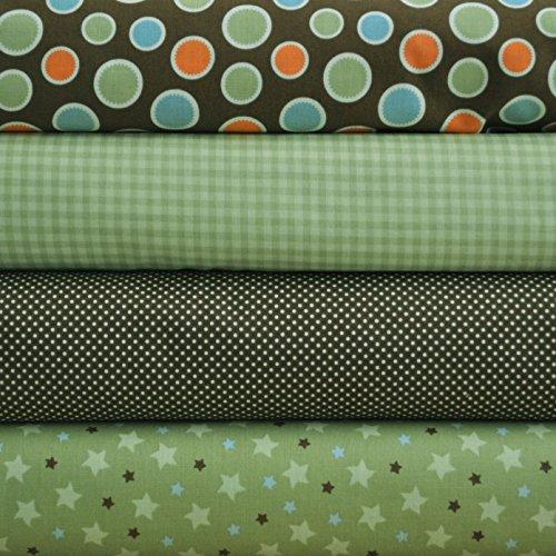 - Mod Tod Green 4 Fabric Fat Quarters Bundle by Sherri Berry Designs for Riley Blake