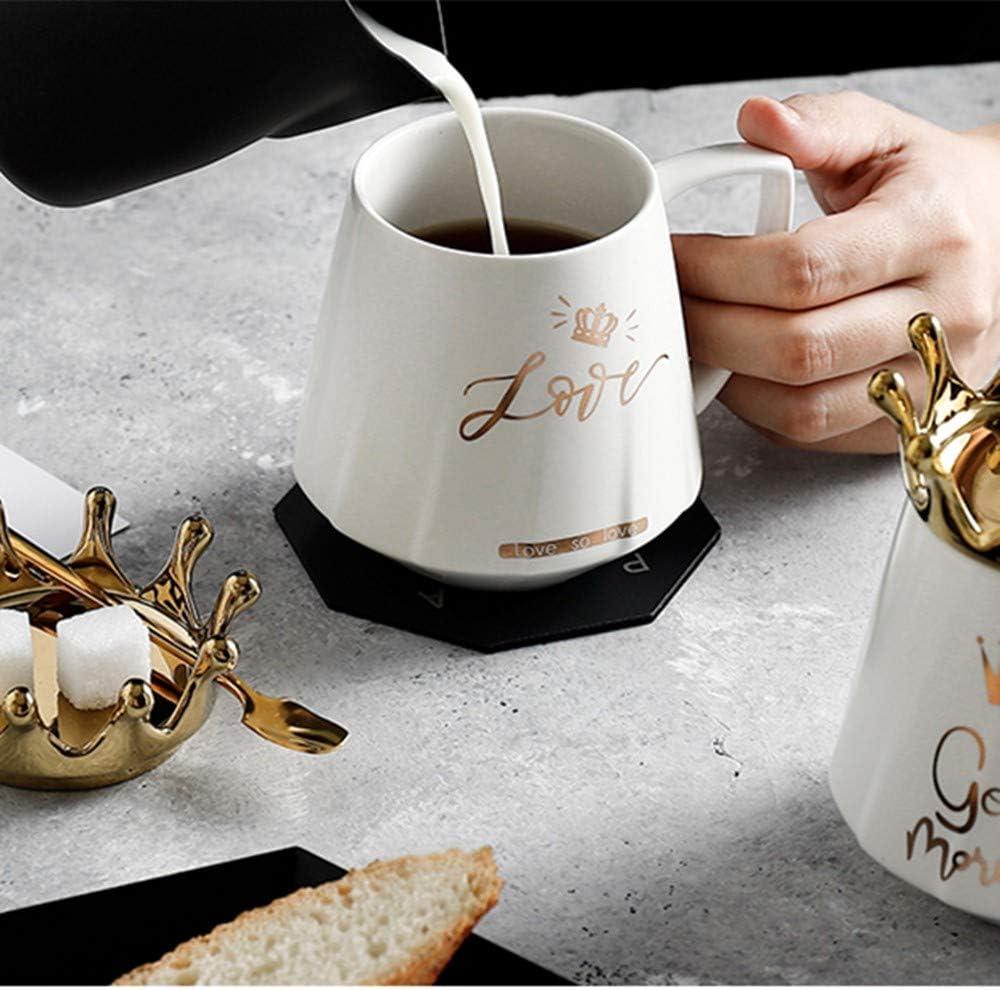 MUXUE Keramik Kaffeetasse Elegante Teetassen mit Deckel und L/öffel 500ml Kreative Home /& Office Geschenke f/ür Freunden und Familien Gro/ßer Keramik-milchbecher mit Henkel