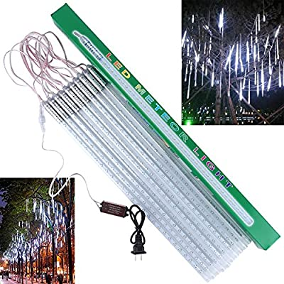 CHINLY Waterproof LED Meteor Shower Rain Light 50cm 10 Tubes 540Leds SMD2835 LED Holiday Lights for Wedding Party Christmas Xmas Decoration Tree Outdoor