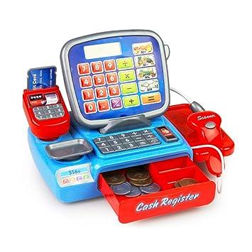 Los niños eléctricos caja registradora Calculadora Juguetes Pretend cajero Aprendizaje Juego Juguete