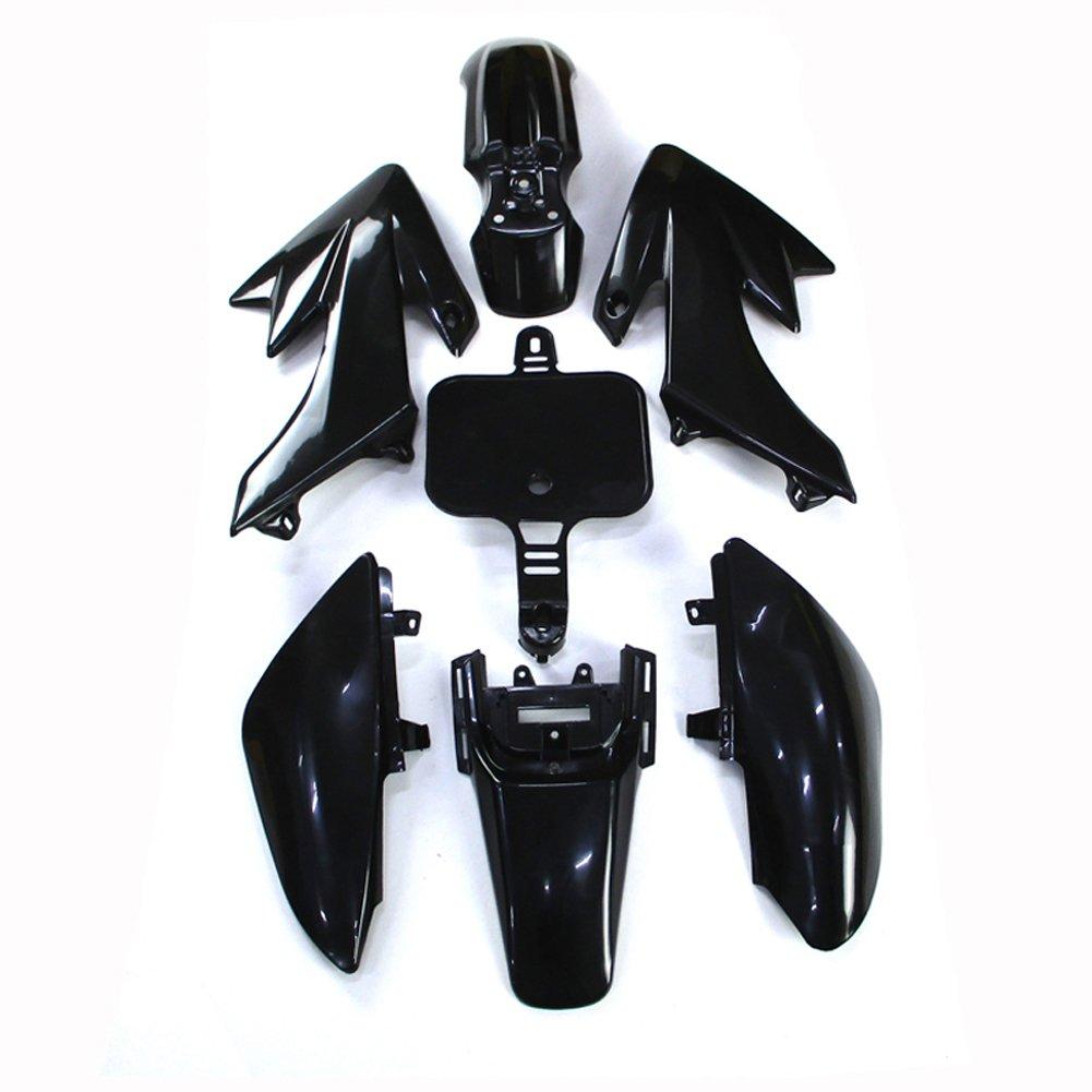 TC-Motor Black Plastic Fender Fairing Kits Kit For Honda XR50 CRF50 Chinese 50cc 70cc 90cc 110cc 125cc 140cc 150cc 160cc Dirt Pit Bike