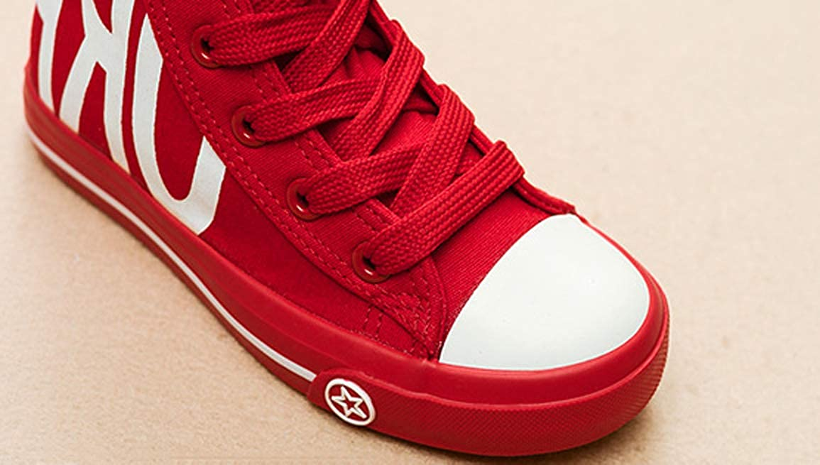 Toddler//Little Kid//Big Kid iDuoDuo Boys Girls Classic School High Top Lace Up Canvas Shoes Sneakers