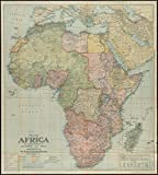 Historic Map | ca. 1922 Map of Africa : and adjoining portions of Europe and Asia | Antique Vintage Reproduction