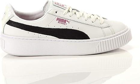 puma basket platform perf gum scarpe da ginnastica basse donna nero