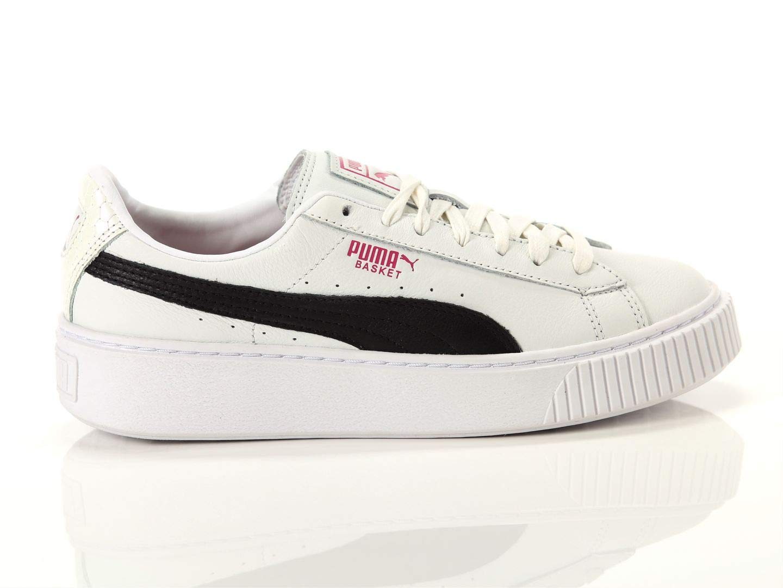 Puma, Donna, Basket Platform Exotic, Pelle, Sneakers, Bianco