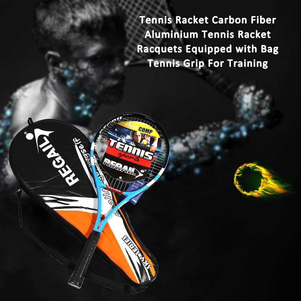 Explopur Raqueta de Tenis Raqueta de Aluminio Fibra de Carbono ...