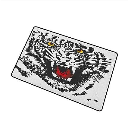 Amazon.com: Tiger - Felpudo, diseño de gato de Albino ...