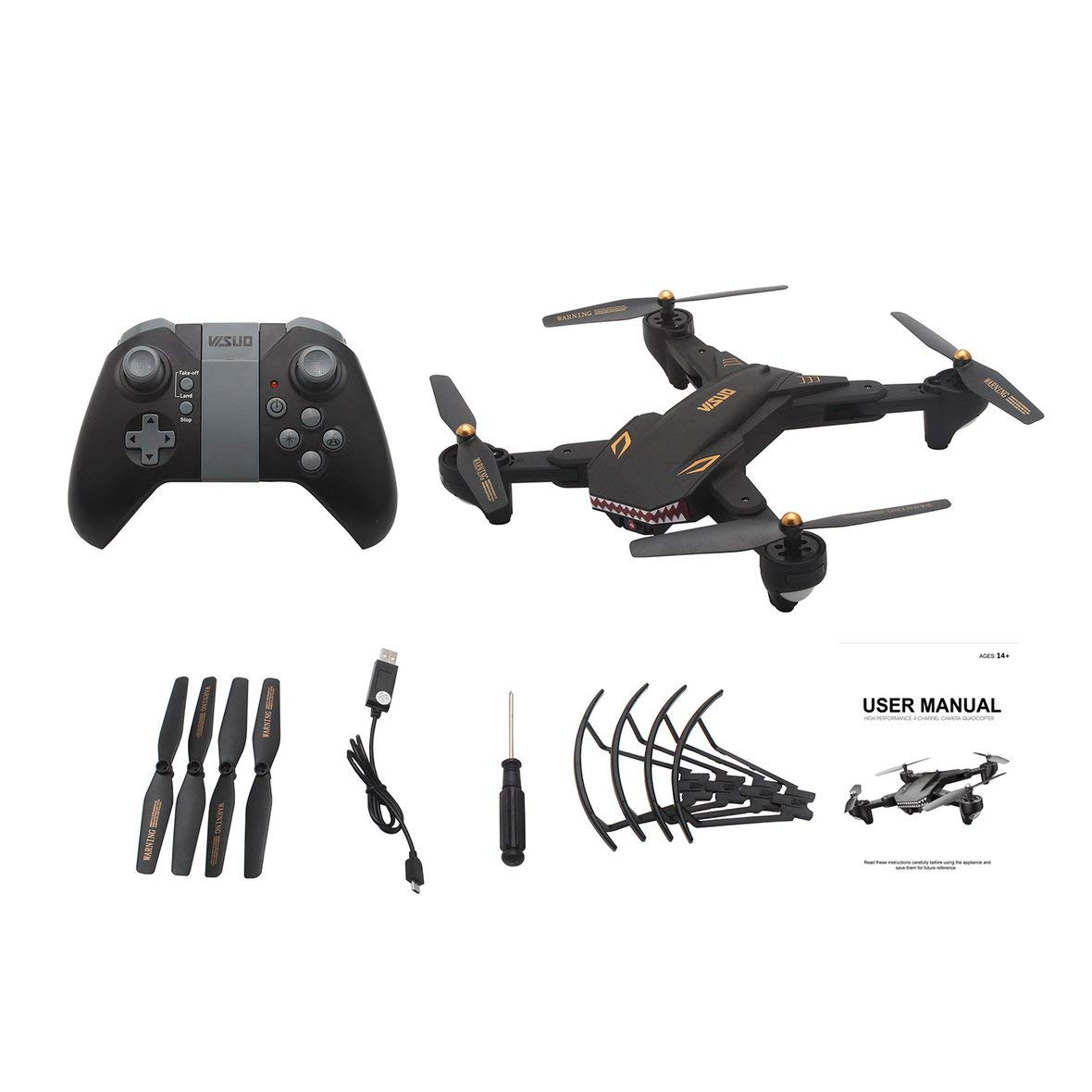 Tivolii VISUO XS809S RC Drone WiFi FPV Selfie Camera Altitude Hold Foldable Headless Mode One Key Return 3D Flip Quadcopter