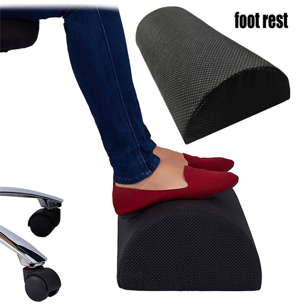 BulzEU Office Foot Rest Under Desk Ergonomic Foot Rest Cushion Compact Supportive Feet Stool Foam Pillow for Home Computer Work Chair