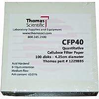 Whatman 1213-125 Quantitative Folded Filter Paper Pack of 100 30 Micron Grade 113V 125mm Diameter