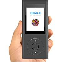 Translator Device,OUMAX TD02 Smart Real-time Voice Two-Way Multi Speech/Text WiFi&4G 2.4 Inch IPS Touch Screen,Voice Recognition, Text to Speech, Push to Talk 38 Languages – Grey