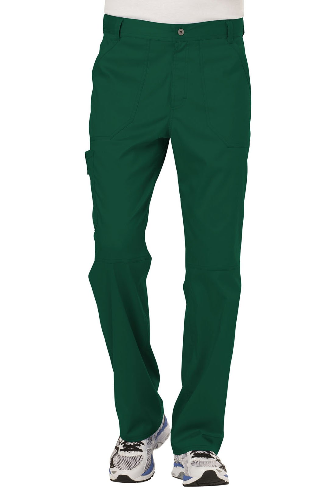 WW Revolution by Cherokee Men's Fly Front Pant, Hunter Green, Small Short