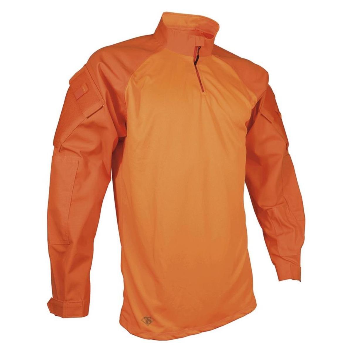 Tru-Spec Combat Shirt, Tru Org P/C Twill 1/4 Zip, Orange, SR by Tru-Spec