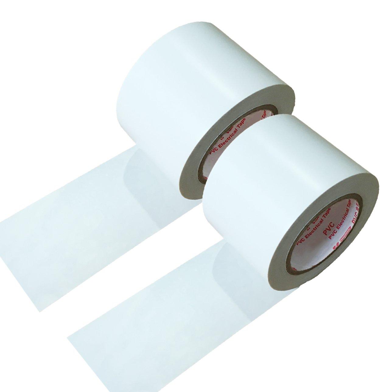 maveek 2 rollos cinta aislante 50 mm * 15 m de silicona resistente al agua aislamiento de reparació n cinta blanco