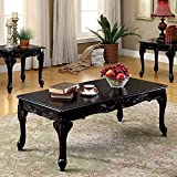 Cheshire Traditional 3 Piece TABLE SET, Black Finish