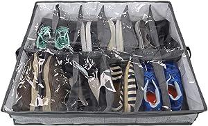 Home Basics SB39015 Under The Bed Organizer, Shoe, Grey
