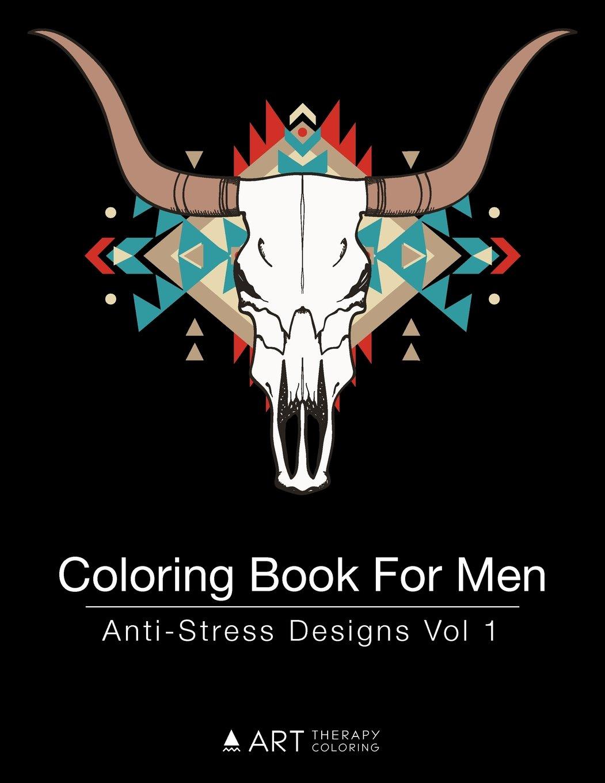 Coloring Book Men Anti Stress Designs product image