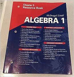Mcdougal littell algebra 1 chapter 7 test answers ...