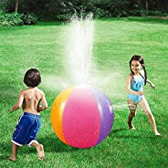 GINKO Kids Inflatable Beach Sprinkler Water Spray Ball Spring Summer Water Sports Splash Spray Toy for Garden,