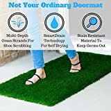 Large Grass Door Mat Rug With SmartDrain Technology - Stain Resistant Green Turf Perfect For Inside, Outside, Home Entryway, Patio, Balcony, Porch, RVs or Camping, Rectangle Size of 2X4 Feet
