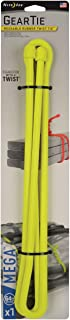 product image for Nite Ize Gear Tie Mega, The Original Reusable Rubber Twist Tie Mega-Sized, 2X Bigger + Stronger For Heavy Duty Projects, 64-Inch, Neon Yellow, Made in the USA