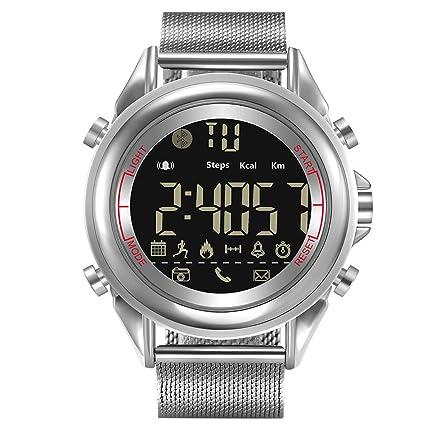 DXY SmartWatch, Reloj Deportivo, Bluetooth 4.0, Aplicación Compatible con 12 Tipos de Voz